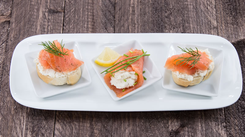 Smoked Salmon with a Horseradish Crème Fraîche
