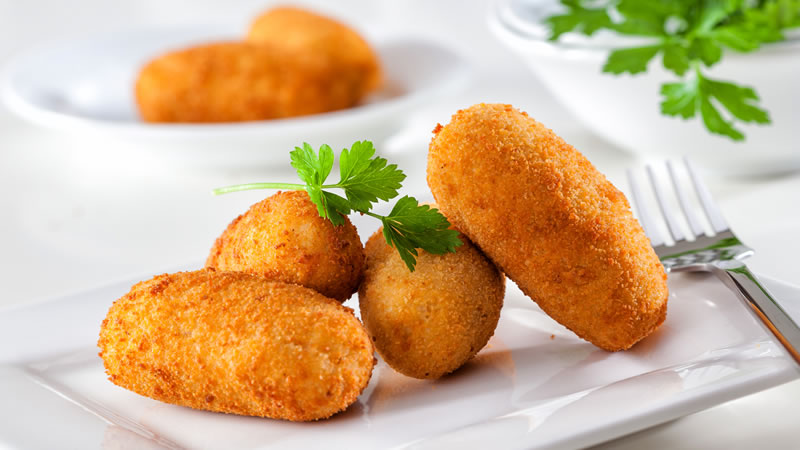 Cheese, Potato and Ham Croquettes