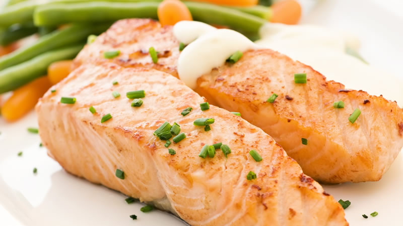Steamed Salmon with Ginger