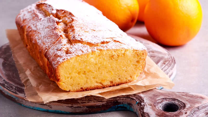 Zingy Orange Polenta Cake